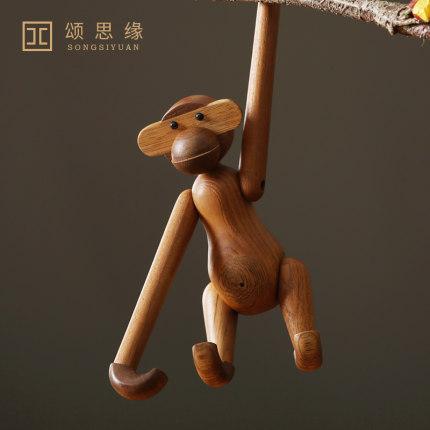Song Si Yuan Đồ trang trí bằng gỗ Bắc Âu rắn gỗ đồ trang trí động vật gỗ chạm khắc con rối nhà cửa h