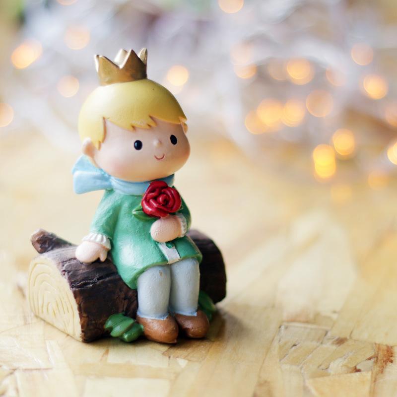RUGUO Cảnh quan Mini Nếu hoàng tử zakka ban đầu nhựa nhựa hoàng tử nhìn vào đồ trang trí hoàng hôn v