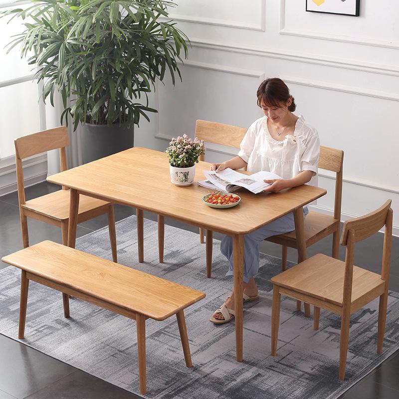 XINGYE thị trường nội thất , đèn Bàn ăn Bắc Âu nhà gỗ sồi phong cách hiện đại nội thất căn hộ nhỏ gỗ