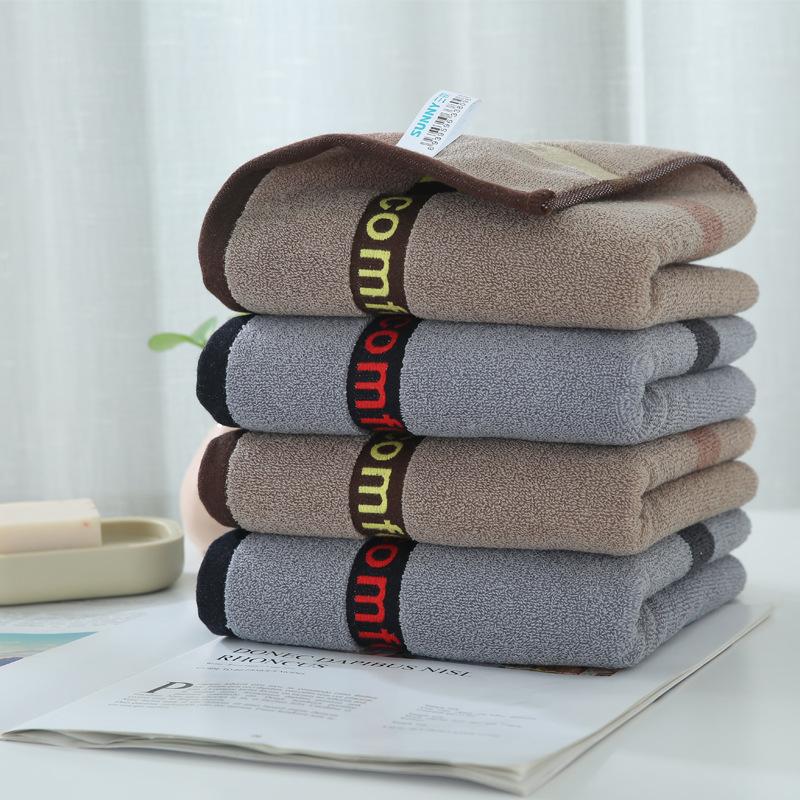 Thị trường khăn Hoạt chất bông đôi khăn mặt dày 130 g bông thấm dài chủ yếu bông mềm