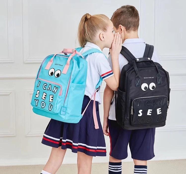 Cặp học sinh Hot Cốc có túi đi học Bear-Eye Series Thích hợp cho học sinh lớp hai đến người lớn