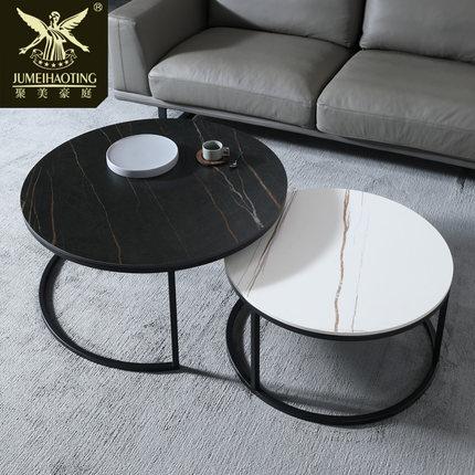 Đá hoa cương  Bàn cà phê hiện đại kích thước tròn kết hợp bàn cà phê Phòng khách Bắc Âu đơn giản bàn