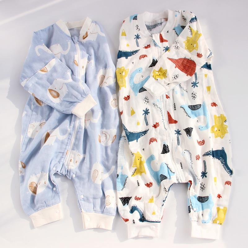 MENGMENGYU Túi ngủ trẻ em 2020 Túi ngủ cho bé có thể tháo rời Tay áo trẻ em Bông gòn Chống đá cho bé