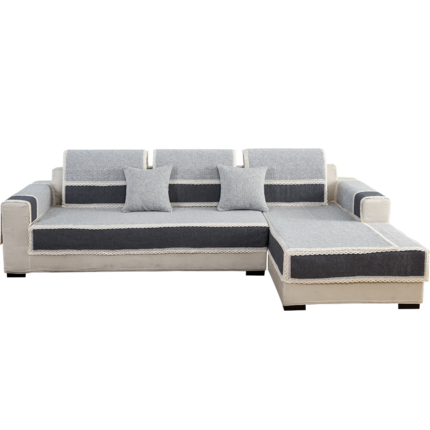 Đệm lót SoFa Chim lạnh bốn mùa cotton và vải lanh sofa đệm chống trượt màu rắn vải mùa hè đơn giản t
