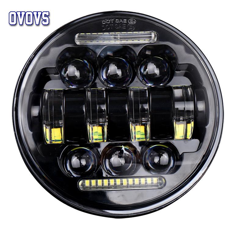 AOWOSI đèn xe Nhà sản xuất bán buôn mới 5.75 inch 66W phụ kiện sửa đổi xe máy LED tròn đèn pha thiên