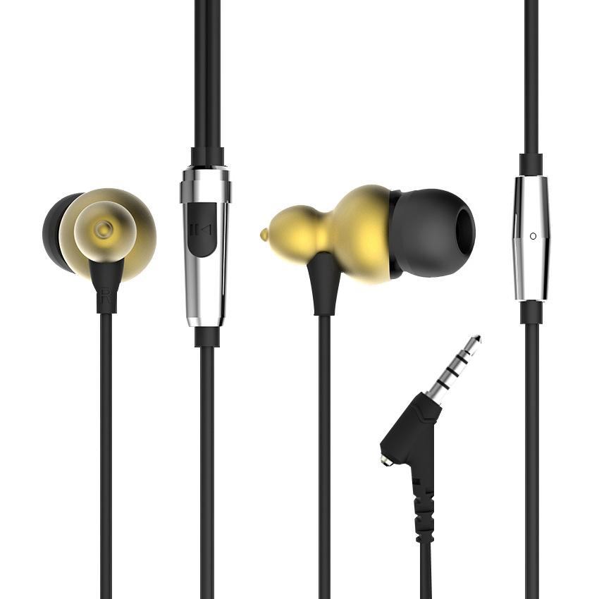 ERQU Tai nghe có dây Xuyên biên giới dành riêng cho Q1 loa siêu trầm bầu vàng mới trong tai điện tho