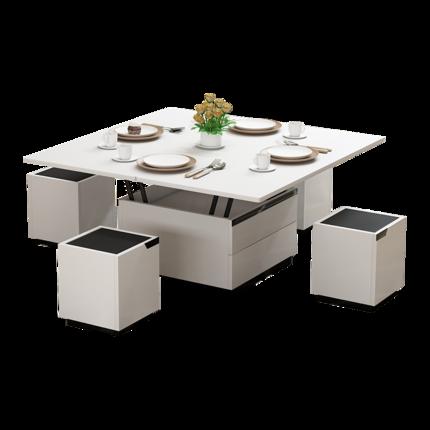 DHP thuỷ tinhBàn cà phê đa chức năng bàn ăn kép sử dụng nâng gấp đơn giản phòng khách hiện đại căn h