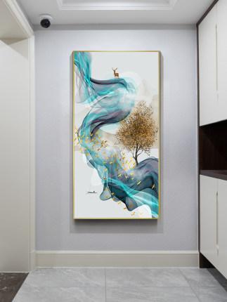 Tranh trang trí  Trang chủ hiên nhà sơn trang trí ánh sáng sang trọng treo tranh phiên bản dọc phòng