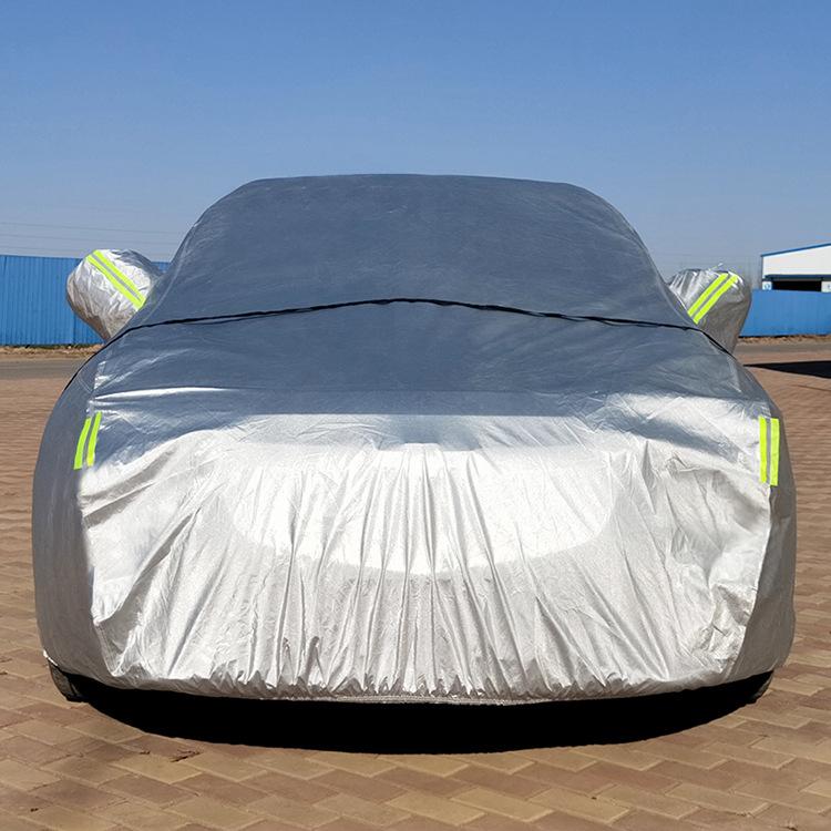 Áo trùm xe hơi Quần áo xe ô tô che bụi chống nắng cách nhiệt bông gòn dày quần áo xe quần áo nhà sản