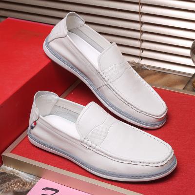 QIANGZU Giày bánh mì Giày da nam đế mềm thoáng khí đế mềm, chống mòn, đi giày lười giày nam Xu hướng
