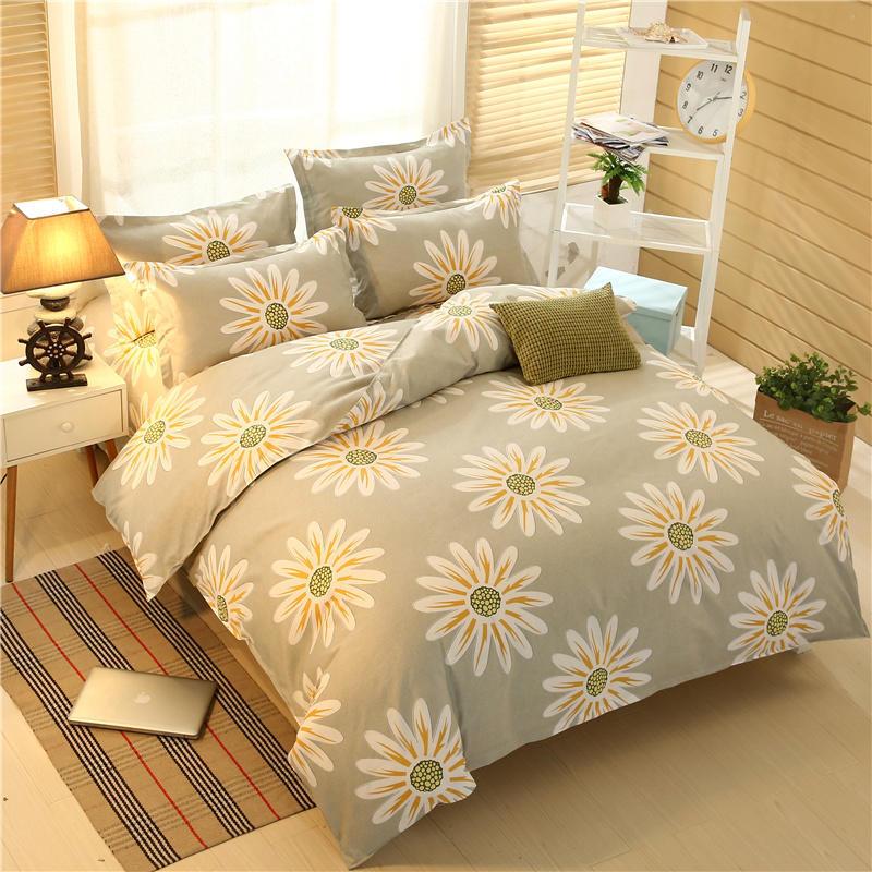 PIBAXING Bộ drap giường Nhà máy trực tiếp nhà máy cashmere dài bốn mặt chủ yếu bộ bông lô hội Bộ bốn