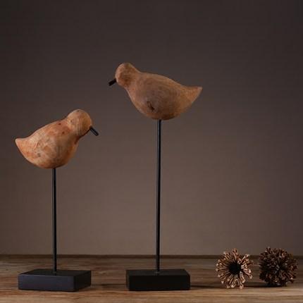 Đồ trang trí bằng gỗ Sáng tạo Bắc Âu Châu Âu Gỗ Chim Trang trí Trang trí Nhà Phòng khách Phòng ngủ T