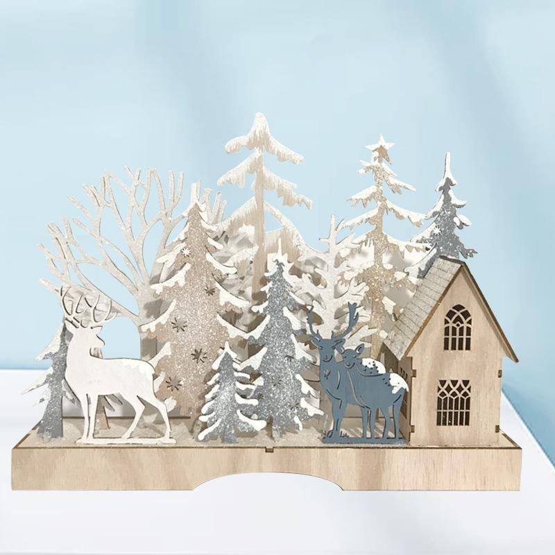 YG Đồ trang trí bằng gỗ Giáng sinh Quà tặng Trang trí Thủ công bằng gỗ Trang trí Văn phòng Trang chủ