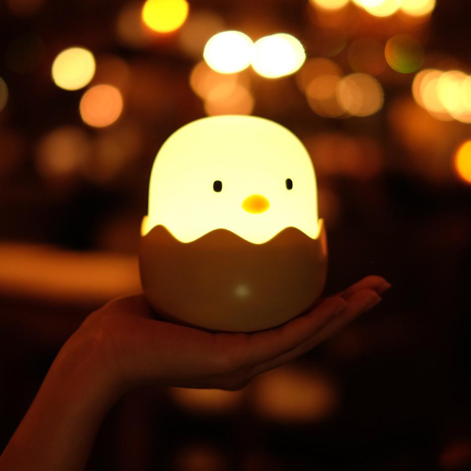 Đèn trứng gà phòng ngủ sáng tạo tiết kiệm năng lượng đầu giường mini bé dẫn đèn ngủ và đèn ngủ