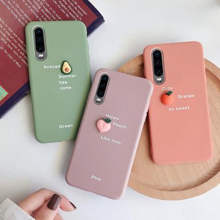MA bao da điện thoại Mini Fruit Huawei p30 sáng tạo p30pro điện thoại di động vỏ v10 cá tính p10plus