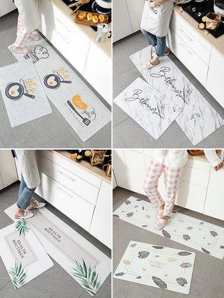 BULULOM Đệm chân  Thảm lưới nhà bếp màu đỏ dài chống trượt và chống thấm mat thảm dùng một lần có th