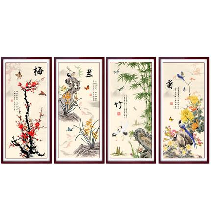 Elandis Tranh thêu chữ thập  2019 cross-thêu Meilan tre hoa cúc đường đơn giản thêu mảnh nhỏ nhà nh