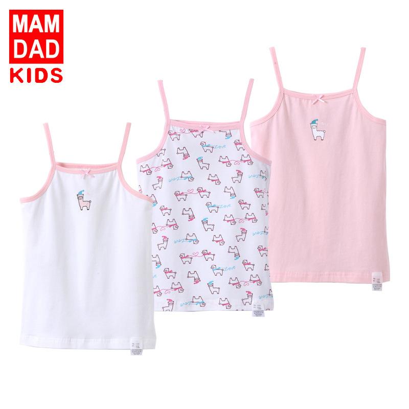 BAMAQIN Áo ba lỗ / Áo hai dây trẻ em Áo vest nữ bằng vải cotton Lycra 2018 Amoi Class A áo sơ mi nữ