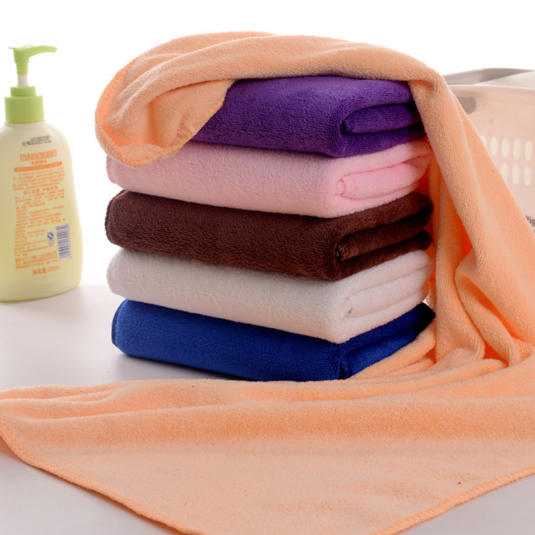 Khăn lau xe Khăn sợi nhỏ 35 * 75 Polyester Nylon 400 Gram chải xe thấm khăn Khăn khô tóc Khăn làm đẹ