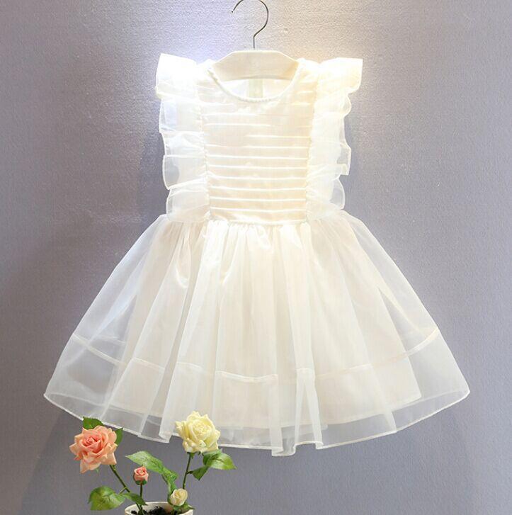 HMBB Trang phục trẻ em mùa hè Thương hiệu Hàn Quốc mùa hè 2020 ngọt ngào và đáng yêu xù áo trẻ em si