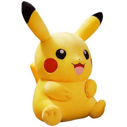 Aoger  Búp bê vải Búp bê Pikachu chính hãng Đồ chơi sinh nhật Quà tặng Big Doll Pikachu Ngủ Gối Doll