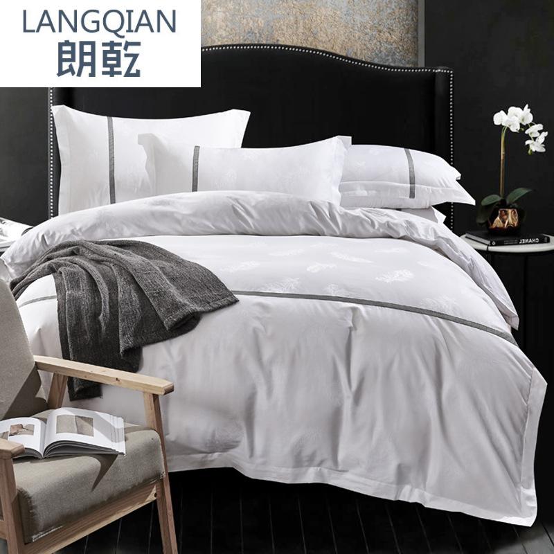 Bộ drap giường Bộ đồ giường cotton bốn mảnh