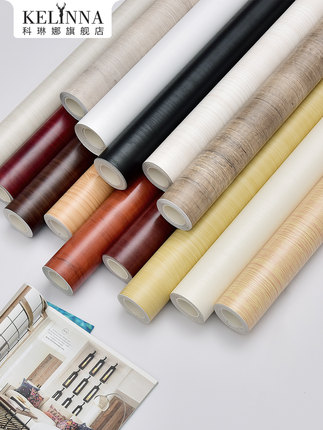 Decal dán tường  Chống thấm và chống ẩm giả gỗ hạt dán giấy dán tường tự dính phòng ngủ tủ quần áo t