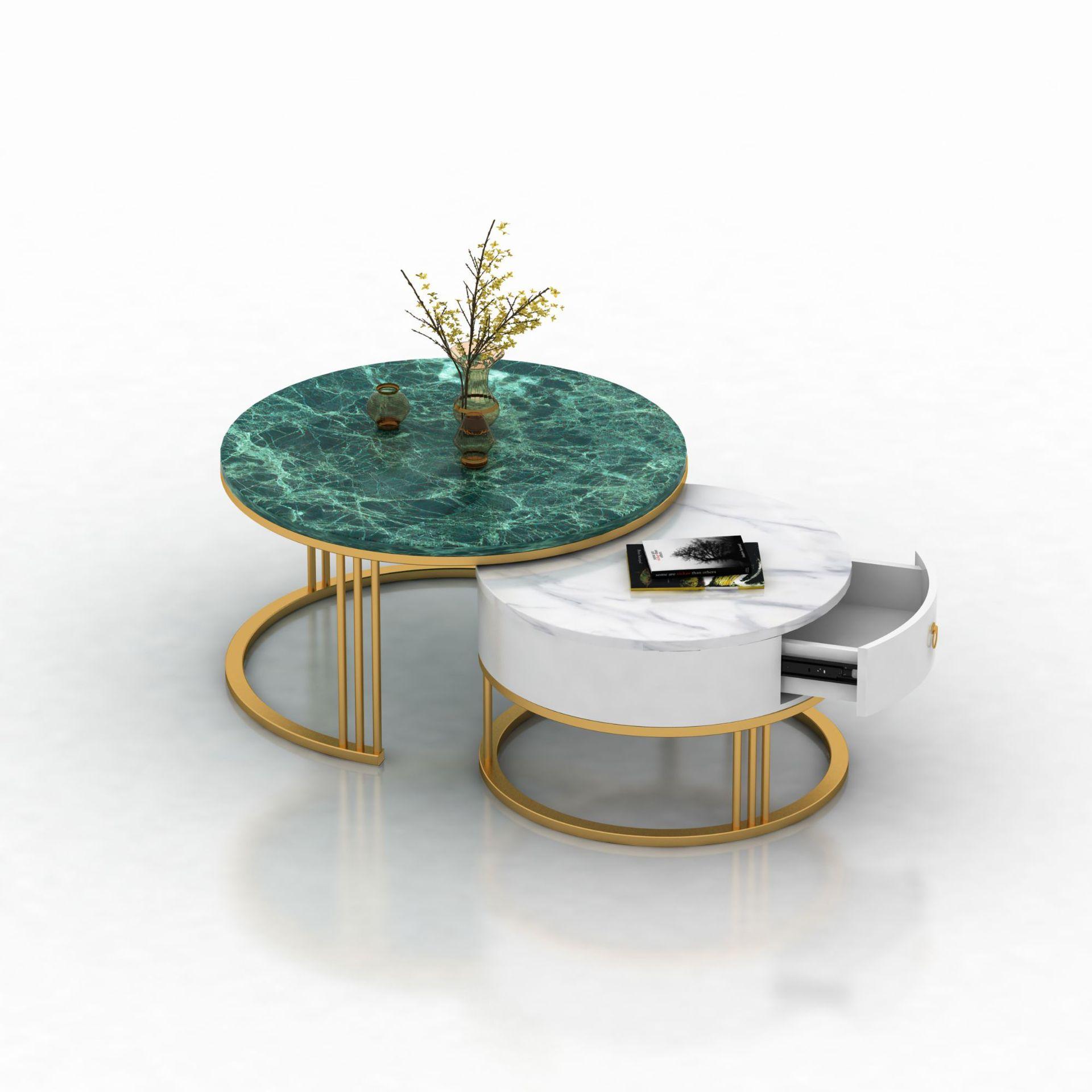 Bàn trà Ý ánh sáng sang trọng lưới đá cẩm thạch đỏ bàn cà phê Thương lượng phòng khách tròn nhỏ bàn