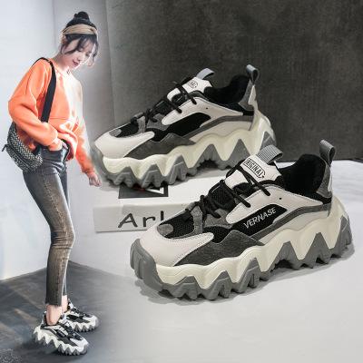 Giày thể thao tăng chiều cao thoáng khí dành cho nữ .