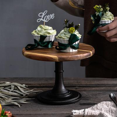 LZH Mâm nhựa / Pallet nhựa Nhà máy trực tiếp bằng gỗ cao bánh pan Châu Âu tiệc cưới chụp đạo cụ rắn