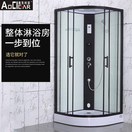 Auclia Bồn đứng tắm   tích hợp phòng tắm nhà vệ sinh di động phòng tắm đơn giản vách ngăn kính cường