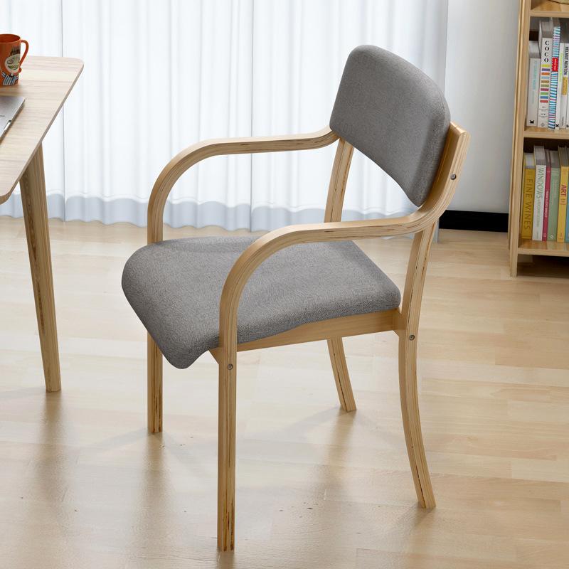 MSFE vỏ bọc điều hoà Ghế ăn gỗ rắn hiện đại tối giản ghế máy tính văn phòng nhà giải trí bàn ghế nor