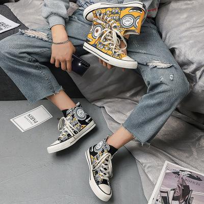FOORAABO giày vải Mùa xuân mới cao nhất đôi giày nam đôi phiên bản Hàn Quốc của ulzzang xu hướng sin