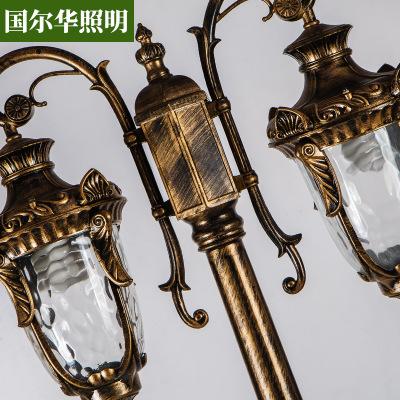 GUOERHUA Đèn LED sân vườn Biệt thự sân vườn 3,5m đôi đầu sân đèn LED cảnh quan khu dân cư đèn đường