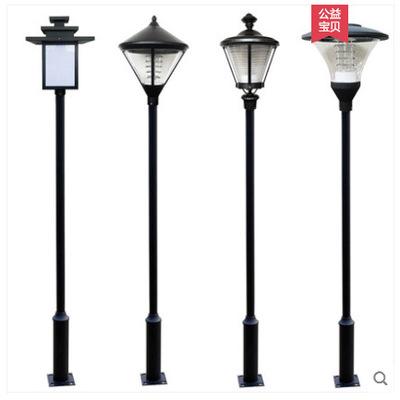 SUWAI Đèn LED sân vườn Đèn sân vườn ngoài trời không thấm nước 3 m led đèn đường sân vườn biệt thự c