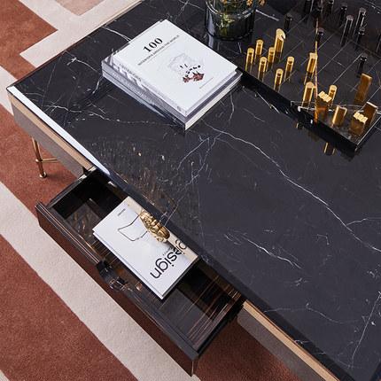 Đá hoa cương  Ánh sáng hậu hiện đại bàn cà phê sang trọng kết hợp tủ bếp kết hợp phòng khách bằng đá