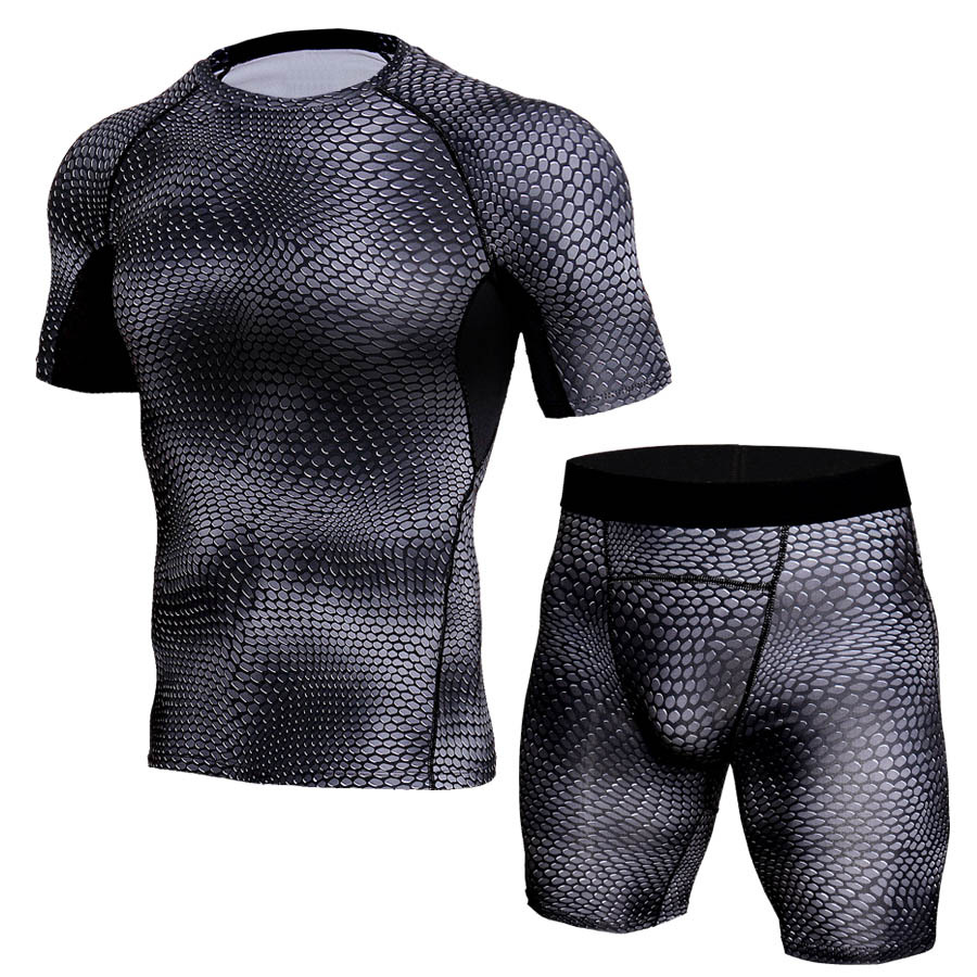 JACK CORDEE Quần áo mau khô Bộ đồ thể dục nam phù hợp với quần nhanh khô chạy quần co giãn độ ẩm cao
