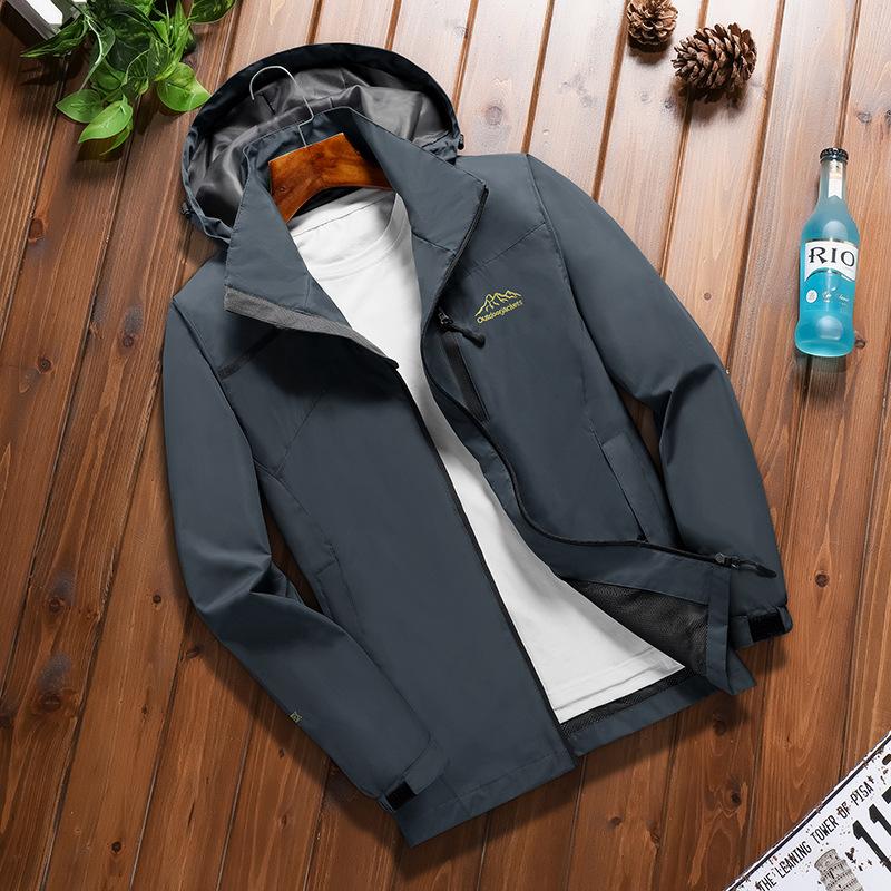 Quần áo leo núi Mùa xuân mỏng nam thể thao ngoài trời leo núi áo khoác có thể tháo rời không thấm nư