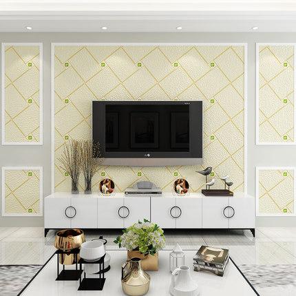 Palime Giấy dán tường  Phòng khách TV giấy dán tường hiện đại tối giản 3D ba chiều theo phong cách c