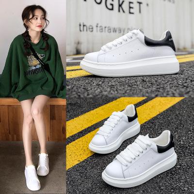 ZUZI Giày Sneaker / Giày trượt ván Giày da lớn màu trắng 2020 mùa xuân mới phản chiếu đôi giày nhỏ m