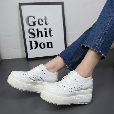 XINSIMAN Giày Loafer / giày lười 2020 mùa xuân giày mới của phụ nữ đế giày thời trang đế tròn bằng s