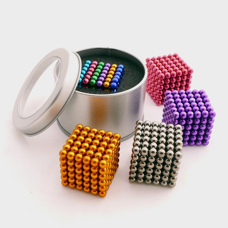 Đồ chơi sáng tạo Bucky bóng 5mm216 đầy màu sắc bóng ma thuật neodymium sắt boron từ bóng bóng hạt đa