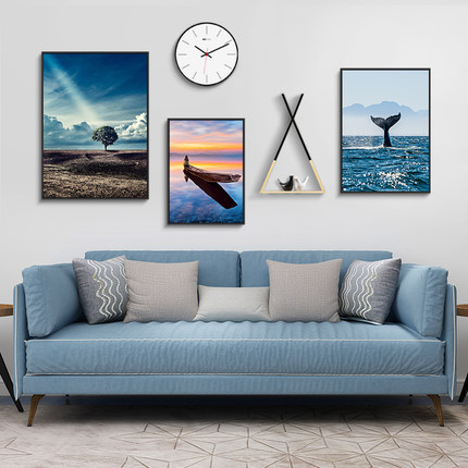 Tranh trang trí  Hiện đại tối giản phong cách Bắc Âu phòng khách sofa nền tường bức tranh trang trí