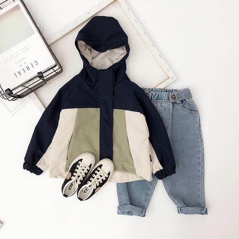 RYBB Phong cách Hàn Quốc Quần áo trẻ em 2019 mới cho trẻ em nước ngoài mùa xuân và mùa thu áo khoác