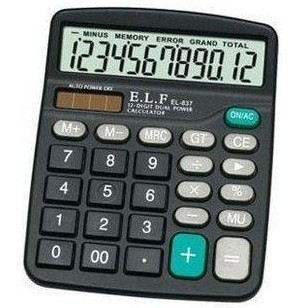 YLF Máy tính Bán buôn Vật tư kế toán văn phòng Yilifa 837 Máy tính năng lượng mặt trời Máy tính 12 c