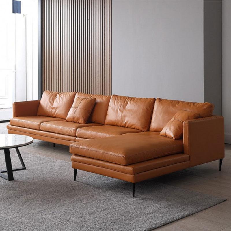 SUIYUE Ghế Sofa Sofa Bắc Âu ba chỗ đơn giản hiện đại Ý phòng khách vừa và nhỏ bằng da thuộc góc sofa