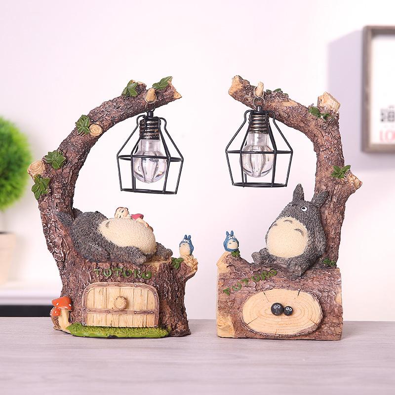 MENGFAN Cảnh quan Mini Phim hoạt hình mèo béo trang trí đêm ánh sáng vi cảnh 861-25 sáng tạo dễ thươ