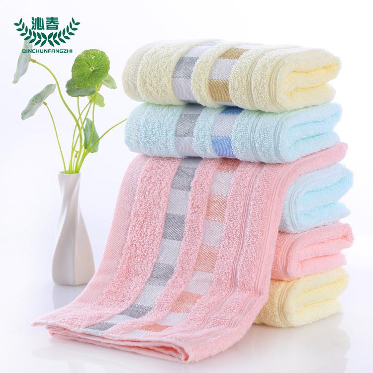 WMMT Thị trường khăn Nhà máy bán buôn bông rô băng khăn tùy chỉnh nhân viên quà tặng khăn mặt