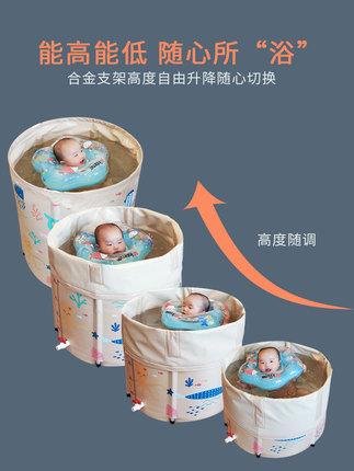 Em bể bơi trẻ sơ sinh   bé bơi xô nhà dày em bé trong nhà hồ bơi trẻ sơ sinh gấp bb tắm bồn tắm trẻ