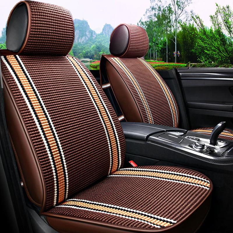 Đệm mát Bán buôn Full Surround Car Seat Cushion Summer Ice Silk Car Cushion Seat Cover Bốn Mùa Phổ q
